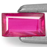 0.25-Carat Unheated Baguette-Cut Pinkish Red Mozambique Ruby