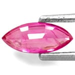 0.60-Carat Non-Heated Marquise-Cut Ruby from Burma (IGI)