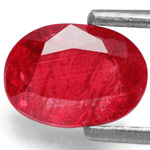1.90-Carat Splendid Unheated Pinkish Red Ruby from Mozambique