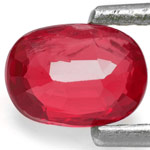 0.67-Carat Deep Pinkish Red Unheated Ruby from Burma