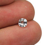0.68-Carat Flawless Unheated Colorless Sapphire from Burma