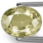4.67-Carat Unheated Yellowish Green Sapphire from Madagascar