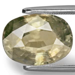 5.93-Carat VS-Clarity Deep Brownish Green Unheated Sapphire
