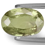 2.49-Carat AIGS-Certified Unheated Brownish Olive Green Sapphire