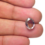 4.92-Carat Greenish Violetish Brown Unheated Madagascar Sapphire