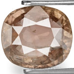 5.40-Carat Cushion-Cut Purplish Brown Unheated Sapphire