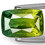 4.08-Carat Eye-Clean Fiery Yellow Green Sapphire from Madagascar