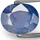 6.17-Carat Deep Violetish Blue Unheated Burmese Sapphire (AIGS)