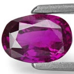 1.18-Carat Eye-Clean Dark Purple Sapphire from Sri Lanka