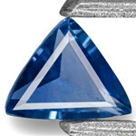 0.23-Carat Flawless Velvety Intense Blue Sapphire from Ilakaka
