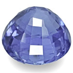 4.65-Carat 9mm Round Unheated Cornflower Blue Burmese Sapphire