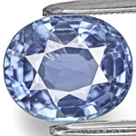 3.83-Carat Unheated Vivid Blue Oval-Cut Sapphire from Burma