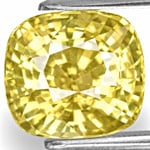 7.58-Carat IGI-Certified Unheated Yellow Sapphire from Sri Lanka