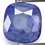 3.54-Carat Unheated Deep Blue Cushion-Cut Ceylon Sapphire