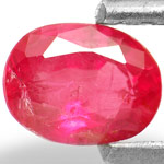 0.60-Carat Unheated Orangy Pink Sapphire from Burma