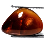 5.13-Carat Scintillating Golden Orange Fire Agate from Mexico