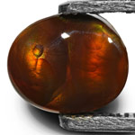 7.98-Carat Oval Fire Agate with Greenish Orange Flashes