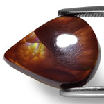 3.20-Carat Chocolate Brown Fire Agate with Multi-Color Flashes