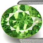 0.81-Carat Dazzling Fiery Yellowish Green Demantoid Garnet