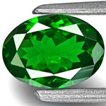 0.82-Carat Magnificent Oval-Cut Chrome Green Tsavorite Garnet