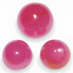 14.42-Carat 3-pc Layout of Round Unheated Ruby Cabochons