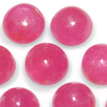 16.44-Carat Assorted Lot of 6mm Round Cabochon-Cut Rubies