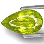 1.92-Carat Yellowish Green Pear-Shaped Indian Sphene