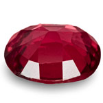0.63-Carat Deep Red Cushion-Cut Spinel from Mogok