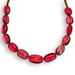 8.48-Carat 13-pc Strand of Deep Pinkish Red Burmese Spinels