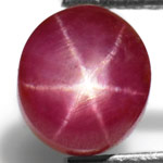 3.92-Carat Attractive Indian Star Ruby with Sharp Dancing Star