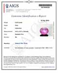 0.98-Carat Pinkish Red Burmese Star Ruby (AIGS-Certified)