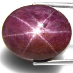 39.24-Carat Maroonish Purple Star Ruby from West Africa