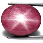20.40-Carat Beautiful Dark Pink 6-Ray Star Ruby from India