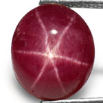 5.60-Carat Attractive Intense Red Star Ruby from India (AIGS)
