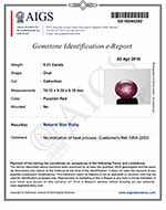 5.21-Carat AIGS-Certified Unheated Indian Star Ruby