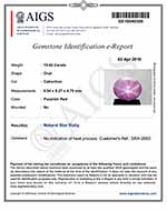 15.42-Carat Star Ruby with Super Sharp Dancing Star (AIGS)