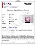 20.23-Carat Star Ruby with Sharp 6-Ray Dancing Star (AIGS)