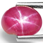 2.97-Carat High-Grade Pinkish Red Star Ruby from Burma