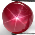1.44-Carat Beautiful Round Intense Red Star Ruby from Burma