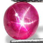 1.47-Carat Lively Pinkish Red Star Ruby from Burma (Unheated)