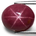 8.39-Carat Pinkish Purple Star Ruby from Vietnam