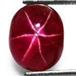 4.74-Carat Rare Pigeon Blood Red Star Ruby from Mogok, Burma