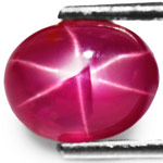 4.19-Carat Lovely Pinkish Red Star Ruby from Mogok, Burma