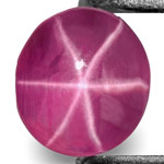 0.73-Carat Deep Purplish Pink Burmese Star Ruby with Sharp Star