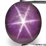 29.58-Carat Pinkish Violet Oval-Cut Indian Star Ruby (AIGS)