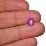 3.10-Carat Attractive Sri Lankan Star Ruby with Sharp 6-Ray Star