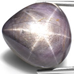 26.25-Carat Pear-Shaped Violet Star Sapphire (AIGS-Certified)