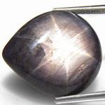 13.13-Carat Pear-Shaped Violetish Black Star Sapphire (AIGS)