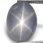 4.72-Carat Greyish Blue Star Sapphire with Sharp Star (AIGS)