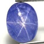 6.10-Carat Intense Blue Star Sapphire from Burma